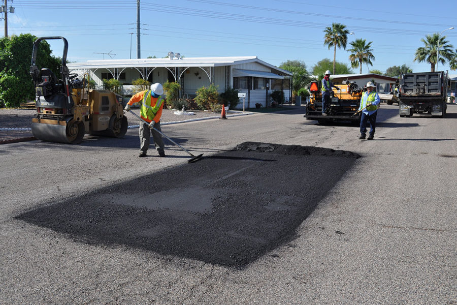 Asphalt Repair Project in New Mexico, Arizona, and other states