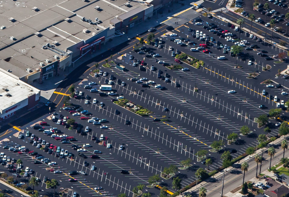 Shopping Mall Asphalt Paving in California