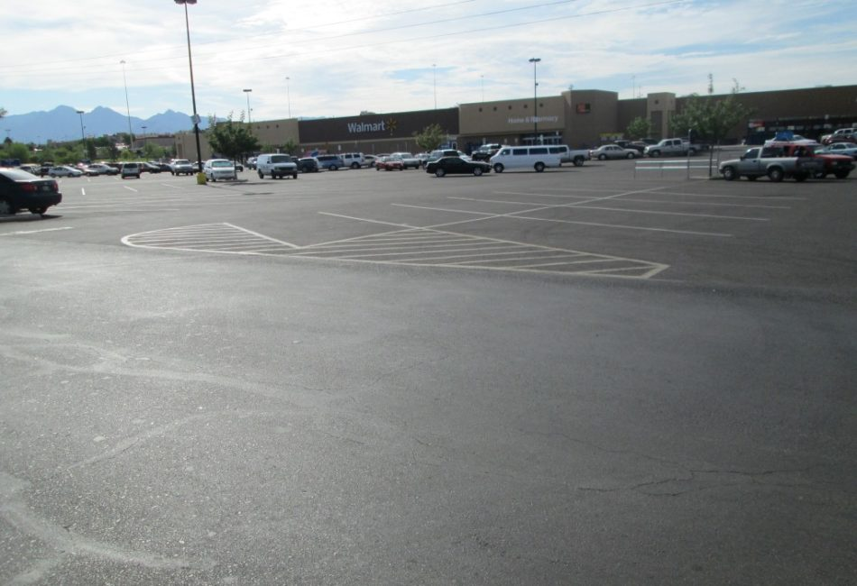 Retail Parking Lot Repairs for Walmart