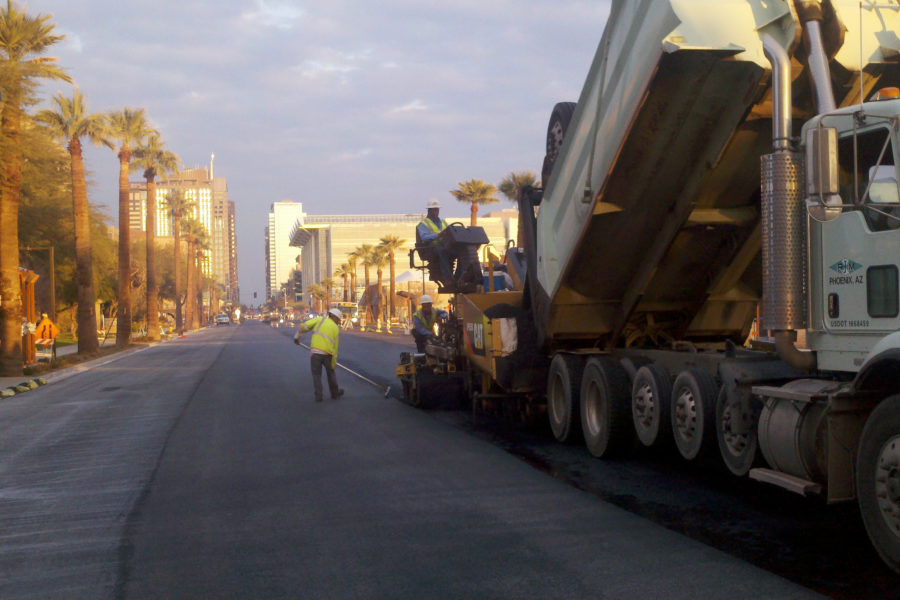 Sunland Team Performs Paving