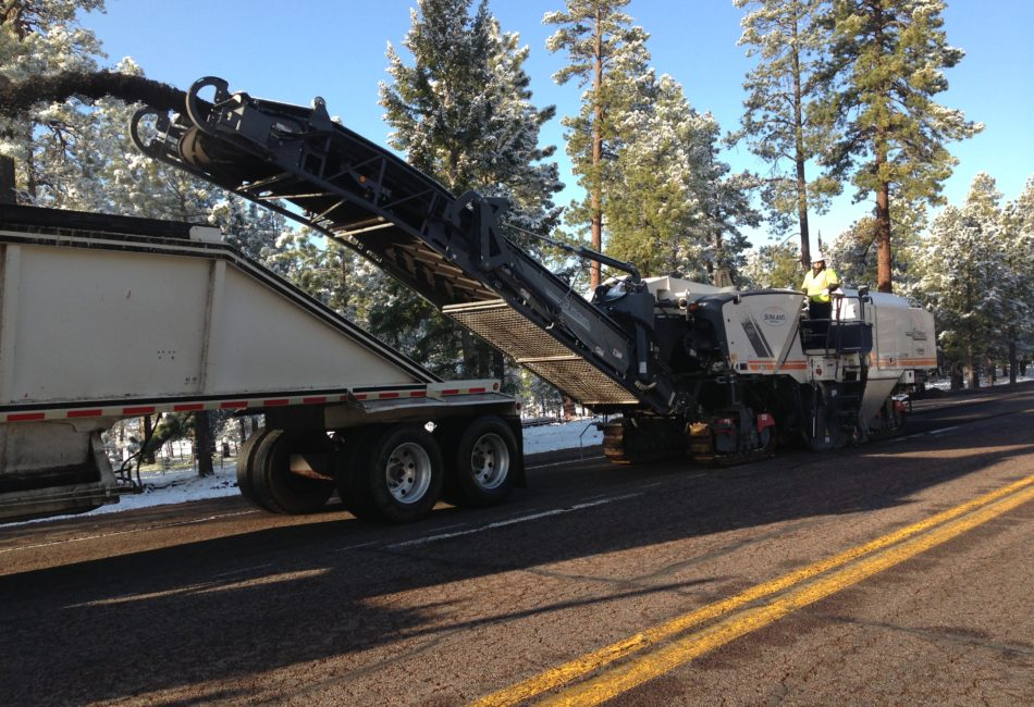 Asphalt Milling Project in Arizona