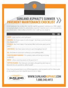 Summer Pavement Maintenance Checklist - vF